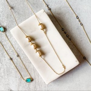 Freida Rothman • Audrey Pearl and Pave Necklace